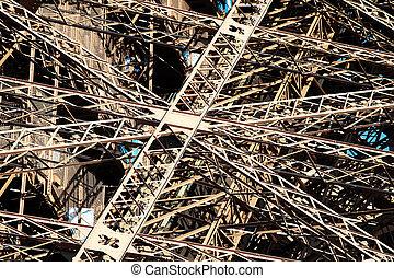 Eiffel Tower Girders - Cast iron girders of the Eiffel Tower...