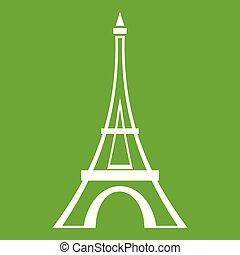 Eiffel tower icon green