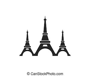 eiffel tower icon vector illustration
