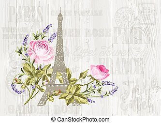 Eiffel tower illustration.