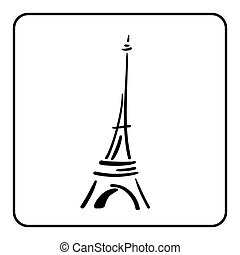Eiffel Tower In A Simple Sketch Style 1