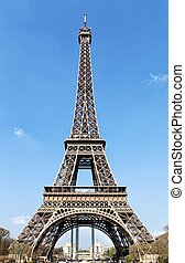 Eiffel Tower in a sunny day