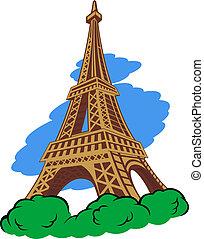 Eiffel tower in Paris for travel design