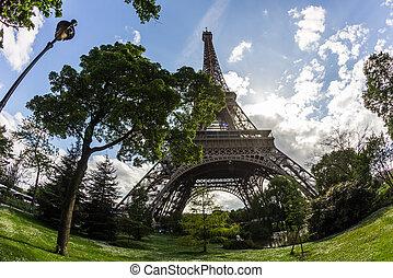 Eiffel tower in spring. Paris, France