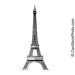 eiffel tower isolated icon vector illustration design