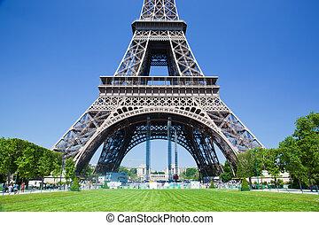 Eiffel Tower lower part, Paris, France - Eiffel Tower lower...