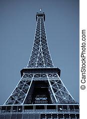 Eiffel Tower Of Paris With Digital