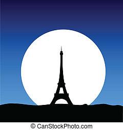 eiffel tower on the moon
