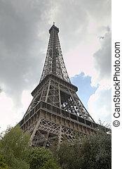 eiffel, tower., paris, frança
