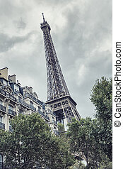 Eiffel tower, Paris. France. - View to the eiffel tower in...