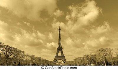 Eiffel Tower-Paris-France-Time Lapse, Europe