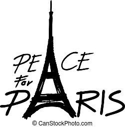 Eiffel Tower peace symbol icon