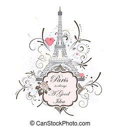 Eiffel tower, romantic background