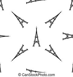 Eiffel Tower Seamless Background. French Pattern