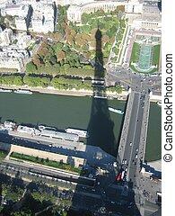 Eiffel Tower shadow