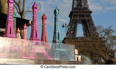 Eiffel tower souvenirs.
