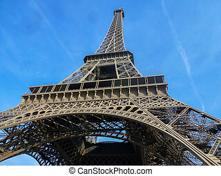 Eiffel Tower. The famous landmark of Paris.