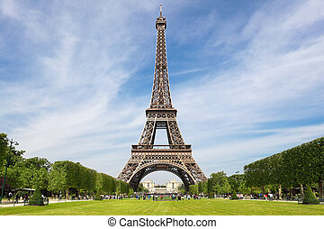 Eiffel Tower, tourist attraction in Paris