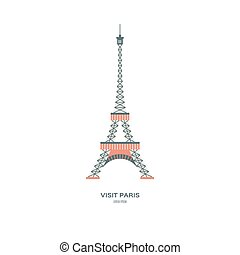 eiffel tower vector drawing