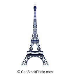 Eiffel Tower Vector Icon in Flat Design - Eiffel tower icon...