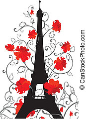 Eiffel tower vector silhouette
