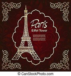 Eiffel Tower, vintage