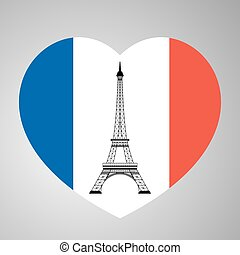 eiffel tower with heart