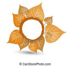 eigen, background-autumn, bladeren, herfst, ontwerp, het vallen, jouw