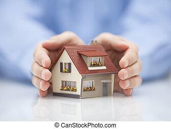eigendom, concept, verzekering