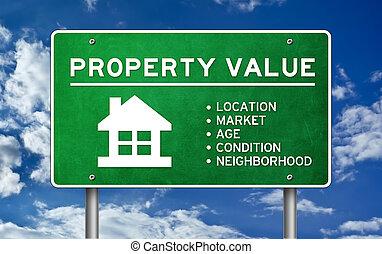 eigendom, concept, waarde