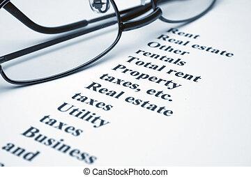 eigendom, huren, belastingen, verzekering