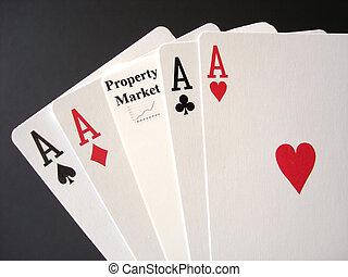 eigendom markt, gokken