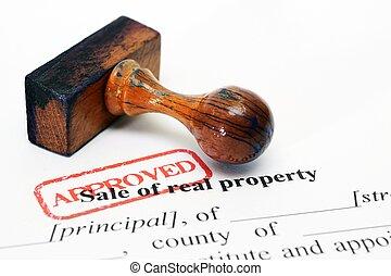 eigendom, verkoop, vorm