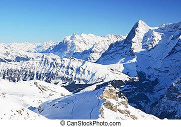 Eiger, famous Swiss mountain peak