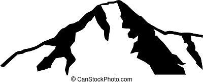 eiger, silhouette, montagne