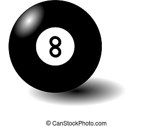 This is an illustration of an eight-ball.