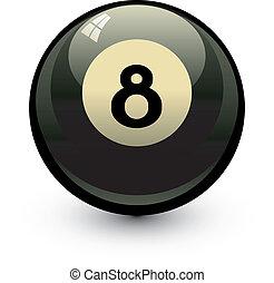 Eight ball. Vector illustration over white. EPS 8, AI, JPEG