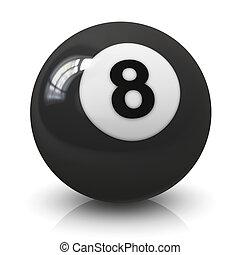 Eight billiard ball - Eight 8 billiard game ball isolated on...