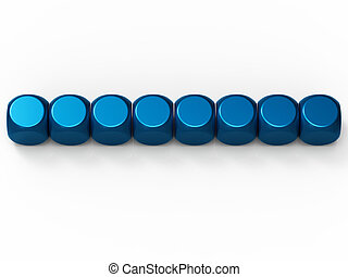 Eight Blank Dice Show Background For 8 Letter Word