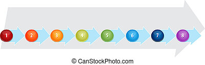 Eight Blank process business diagram illustration