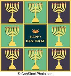 Eight candels of Hanukkah