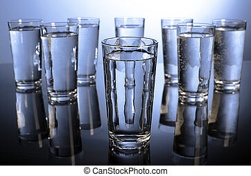 Eight glasses of water a day - Eight glasses of water...