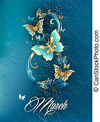 Eight of luxury butterflies - Eight of the luxury, jewelery...