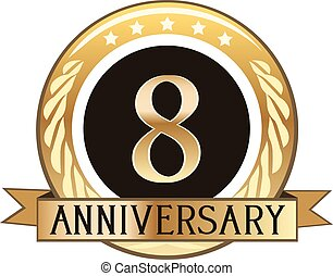eighth anniversary vector clip art royalty free 79 eighth