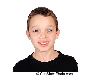Eight year old boy - Young smiling eight year old boy...