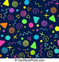 Eighties Memphis pattern
