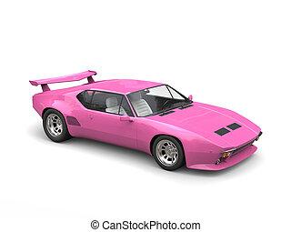 Eighties pink concept sports car - studio shot