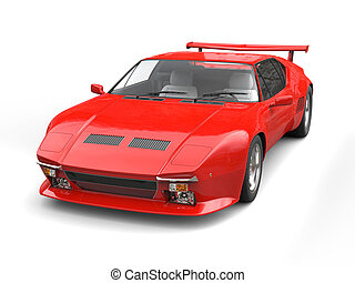 Eighties red sports car - studio shot