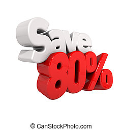 eighty Percent Price Reduction And Save