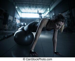 eignung- kugel, workout